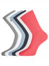 Комплект высоких носков (6 пар) oodji #SECTION_NAME# (разноцветный), 57102902T6/47469/43 - вид 2
