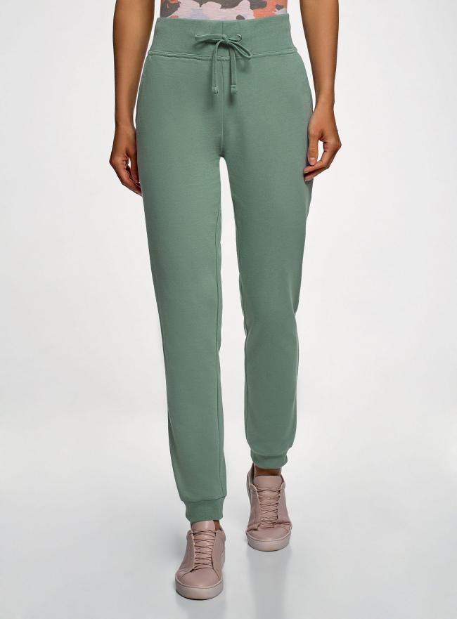 Комплект трикотажных брюк (2 пары) oodji для женщины (зеленый), 16700030-15T2/46173/6C00N
