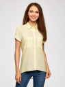 Блузка из вискозы с нагрудными карманами oodji #SECTION_NAME# (желтый), 11400391-4B/24681/5000N - вид 2