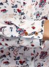 Блузка вискозная с декоративными завязками oodji #SECTION_NAME# (разноцветный), 11411118/24681/3079F - вид 5