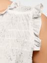 Топ принтованный из легкой ткани oodji для женщины (белый), 11411097/17358/1091F