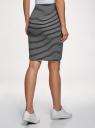 Юбка трикотажная с асимметричным низом oodji для женщины (черный), 14101081B/45500/2912S