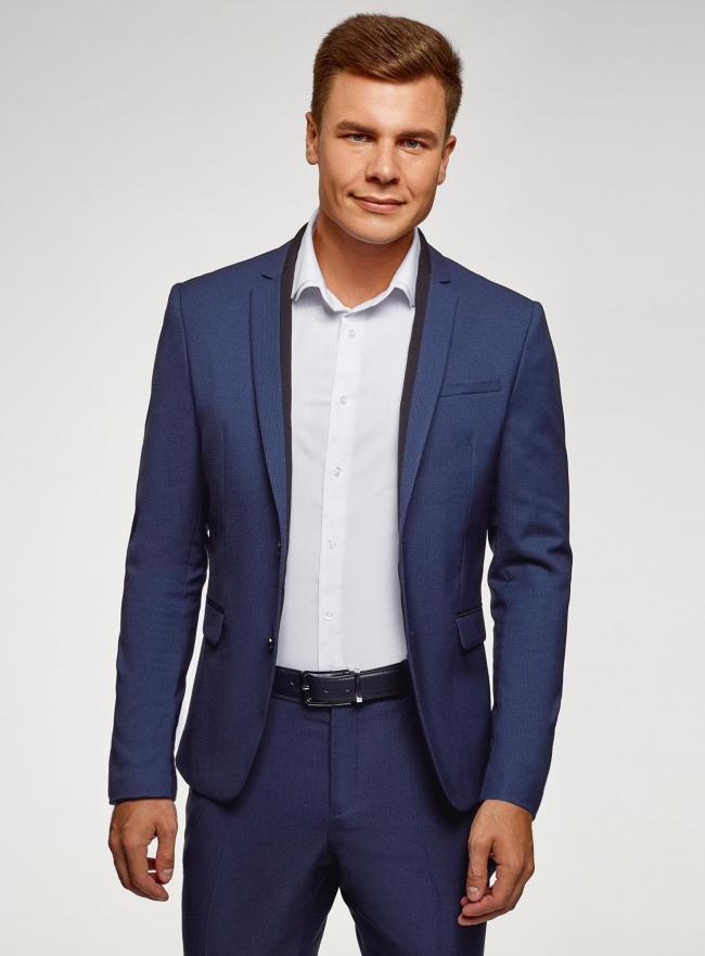 Пиджак приталенного силуэта oodji для мужчины (синий), 2L420266M/48579N/7900O