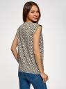 Блузка из принтованной вискозы с двумя карманами oodji #SECTION_NAME# (белый), 21412132-2/24681/1252E - вид 3