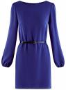 Платье из шифона с ремнем oodji #SECTION_NAME# (синий), 11900150-5B/32823/7500N