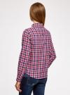 Рубашка в клетку с карманами oodji #SECTION_NAME# (красный), 11400433-1/43223/7445C - вид 3