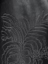 Юбка из искусственной кожи с вышивкой oodji для женщины (черный), 18H00004/45901/2901N