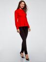 Блузка хлопковая с баской oodji #SECTION_NAME# (красный), 13K00001-1B/42083/4500N - вид 6