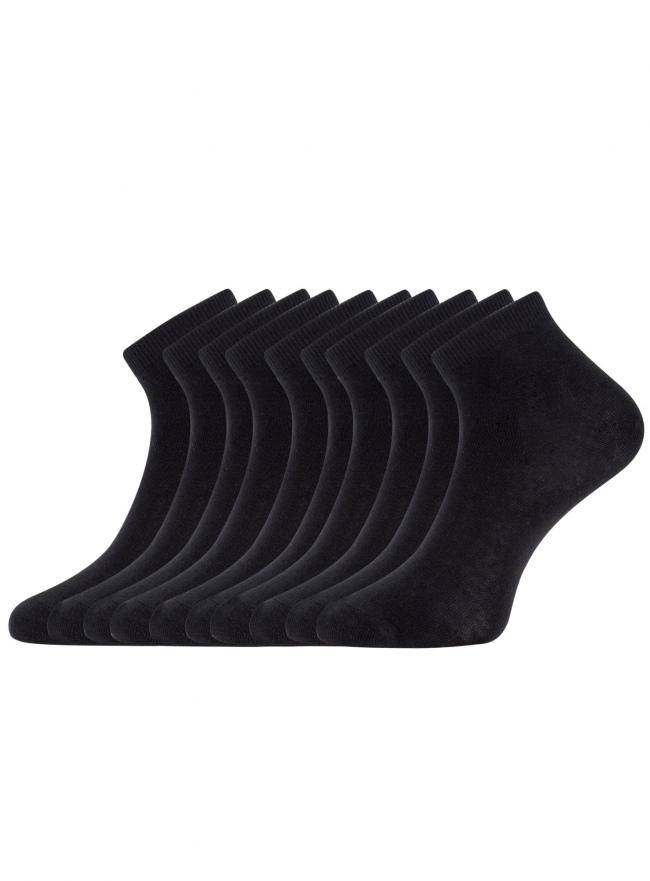 Комплект укороченных носков (10 пар) oodji для женщины (черный), 57102418T10/47469/2900N