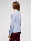 Блузка с баской и декором на воротнике  oodji #SECTION_NAME# (синий), 13K00001-2B/42083/7000N - вид 3