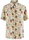 Блузка вискозная с короткими рукавами oodji #SECTION_NAME# (слоновая кость), 11411137B/14897/3031Q