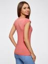 Комплект из двух базовых футболок oodji для женщины (разноцветный), 14711002T2/46157/794BN