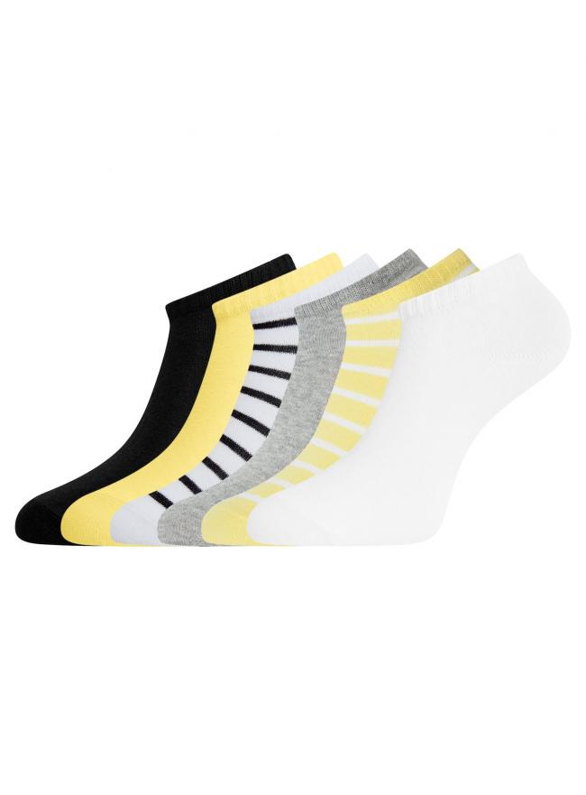 Комплект укороченных носков (6 пар) oodji для женщины (разноцветный), 57102433T6/47469/19SNO