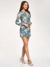 Платье приталенное принтованное oodji #SECTION_NAME# (разноцветный), 11900220-1/45352/7562F - вид 6