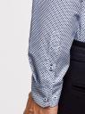 Рубашка хлопковая с контрастной отделкой oodji #SECTION_NAME# (синий), 3L110330M/19370N/1079G - вид 5