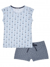 Пижама хлопковая принтованная oodji #SECTION_NAME# (синий), 56002220-7/44135N/7079Q