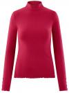 Водолазка в рубчик с пуговицами на рукавах oodji для женщины (розовый), 15E11009-1/48037/4C00N