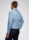 Рубашка базовая приталенная oodji #SECTION_NAME# (синий), 3B110019M/44425N/7079G - вид 3