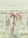 Пижама с шортами принтованная oodji #SECTION_NAME# (зеленый), 56002187-6/47692/6783P - вид 5