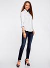 Рубашка с контрастной отделкой и рукавом 3/4 oodji #SECTION_NAME# (белый), 11403201-2B/26357/1000N - вид 6