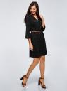 Платье вискозное с ремнем oodji #SECTION_NAME# (черный), 11900180B/48458/2910D - вид 6