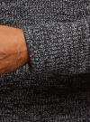 Свитер фактурной вязки с высоким воротом oodji #SECTION_NAME# (серый), 4L305040M/47209N/7925O - вид 5