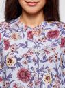 Блузка вискозная А-образного силуэта oodji #SECTION_NAME# (синий), 21411113B/26346/7045F - вид 4