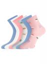 Комплект из шести пар носков oodji для женщины (разноцветный), 57102466T6/47469/17