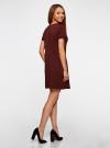 Платье трикотажное из фактурной ткани oodji #SECTION_NAME# (красный), 14000162-1/47198/4900N - вид 3
