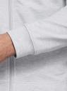 Толстовка из хлопка с принтом oodji для мужчины (серый), 5L125006I-1/47648N/2000Z