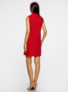 Платье без рукавов прямого кроя oodji #SECTION_NAME# (красный), 11900169/38269/4500N - вид 3