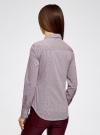 Блузка приталенная в горошек oodji #SECTION_NAME# (фиолетовый), 11403227/46079/1049G - вид 3