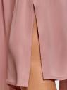 Юбка в складку с запахом oodji #SECTION_NAME# (розовый), 13G00003B/42662/4A00N - вид 5
