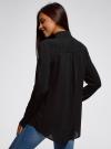 Блузка с нагрудными карманами и регулировкой длины рукава oodji #SECTION_NAME# (черный), 11400355-8B/48458/2900N - вид 3