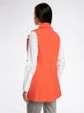 Жилет удлиненный с декоративными пуговицами oodji #SECTION_NAME# (оранжевый), 22305001-3/46415/5500N - вид 3