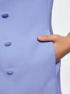 Жилет удлиненный с декоративными пуговицами oodji #SECTION_NAME# (фиолетовый), 22305001-3/46415/7500N - вид 5