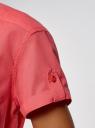 Рубашка хлопковая с нагрудными карманами oodji #SECTION_NAME# (красный), 13L02001B/45510/4300N - вид 5