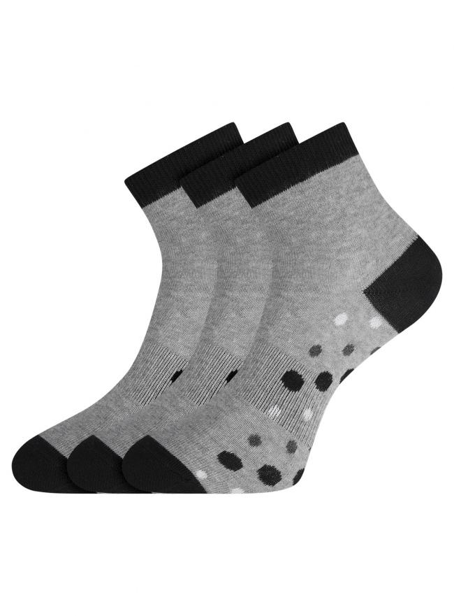 Комплект из трех пар носков oodji #SECTION_NAME# (серый), 57102418-6T3/47469/3