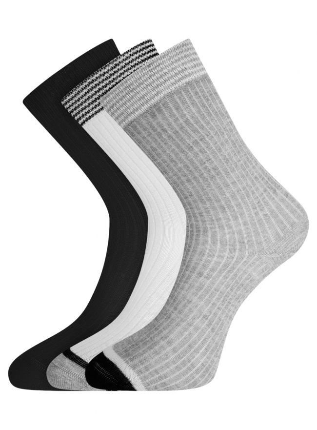 Комплект из трёх пар носков oodji #SECTION_NAME# (разноцветный), 57102908T3/15430/1