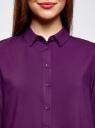 Блузка базовая из вискозы oodji #SECTION_NAME# (фиолетовый), 11411136B/26346/8801N - вид 4