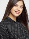 Блузка базовая из вискозы с нагрудными карманами oodji #SECTION_NAME# (черный), 11411127B/26346/2912G - вид 4