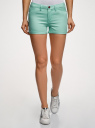 Шорты джинсовые стретч с отворотами oodji #SECTION_NAME# (бирюзовый), 12807082B/45491/7300W - вид 2