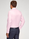 Рубашка базовая из хлопка oodji для мужчины (розовый), 3B110035M/49279N/4010O