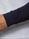 Свитшот хлопковый с контрастными рукавами oodji #SECTION_NAME# (серый), 5B114031M/48820N/2079N - вид 5