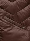 Куртка стеганая с воротником-стойкой oodji для женщины (коричневый), 10203063/18268/3900N - вид 5