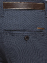 Брюки-чиносы с ремнем oodji для мужчины (синий), 2L150151M/48640N/7975O