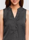 Блузка принтованная с V-образным вырезом oodji #SECTION_NAME# (черный), 21400388-3/35542/2912D - вид 4