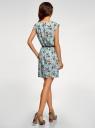 Платье вискозное без рукавов oodji #SECTION_NAME# (бирюзовый), 11910073B/26346/6541F - вид 3