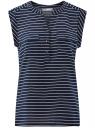 Блузка вискозная с нагрудными карманами oodji для женщины (синий), 21412132-5B/24681/7912S