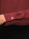 Блузка свободного силуэта с завязками oodji #SECTION_NAME# (красный), 21411094B/48854/4900N - вид 5